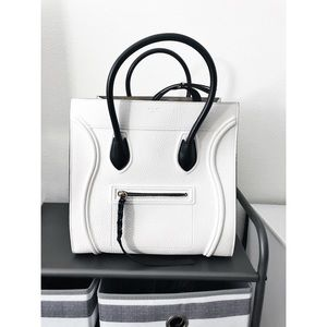 CELINE White phantom luggage tote